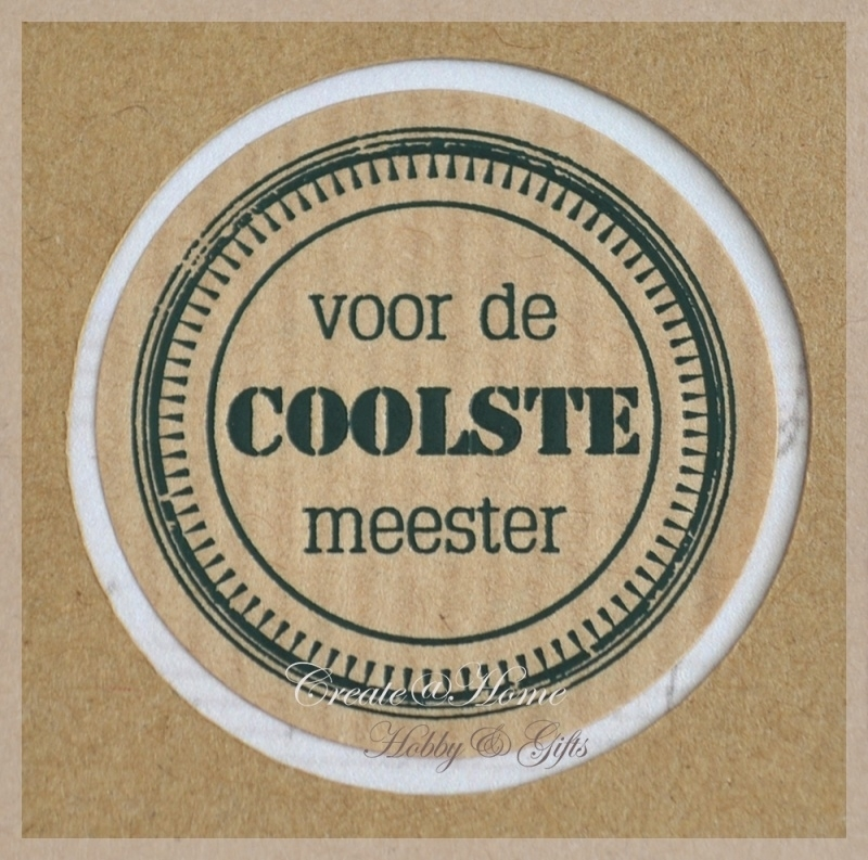 Kraft stickers rond, coolste meester. Per 10
