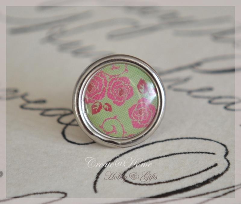 Brads splitpen zilver vintage roze/groen 8 mm. Per 5