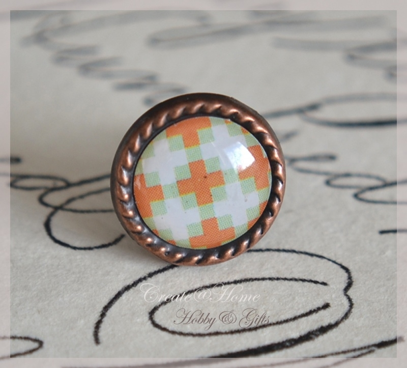 Brads splitpen koper lichtgrijs/oranje 8 mm