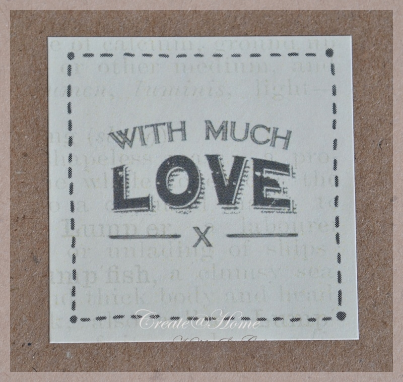 Vintage stickers With much love. Per 5