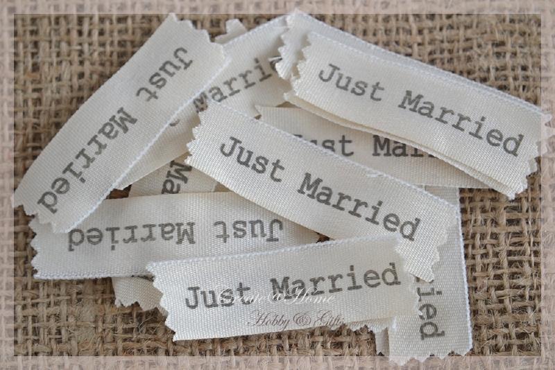 Stukjes lint Just married. Per 10