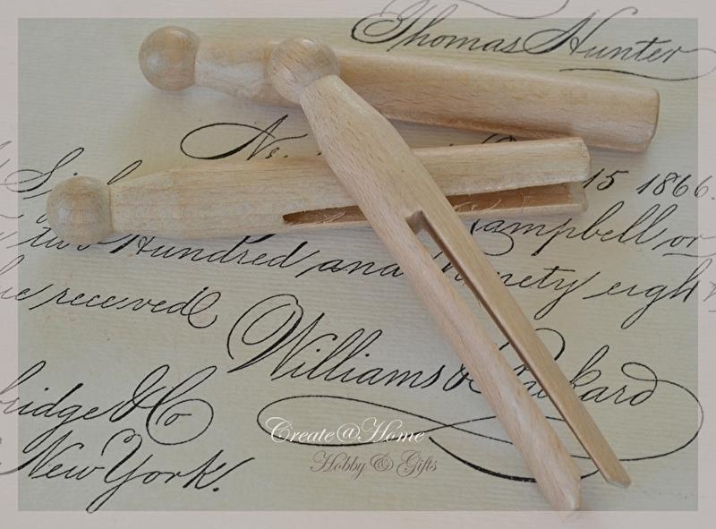 Ouderwetse houten knijpers. Per 5