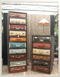 *Decoreren met koffers*