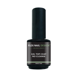Flex Nail Design led/ UV  Gel Top Coat No Cleanse 15ml
