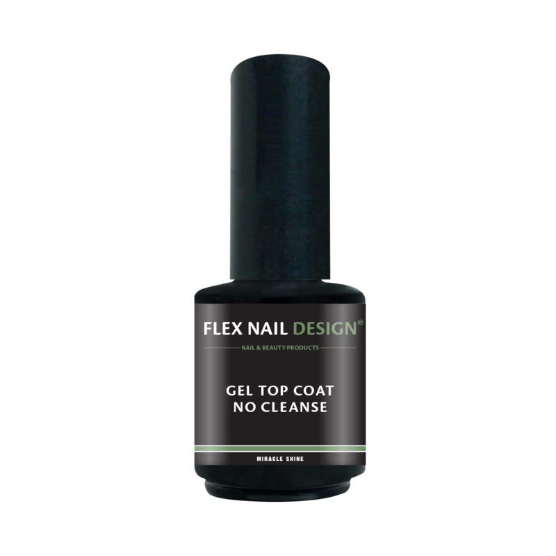 Flex Nail Design led/ UV  Gel Top Coat No Cleanse 15ml
