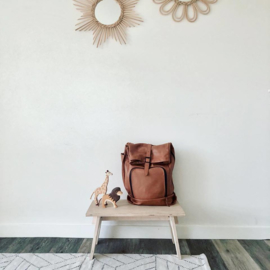 dusq family bag | leather-sunset cognac