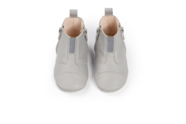 dusq first step shoes | leather-cloud grey