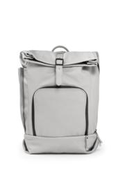 dusq family bag   leather-cloud grey