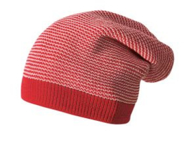 Disana long beanie, rood/roze
