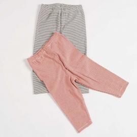 Lilano marine/witte legging katoen/zijde 68, 80