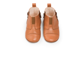 dusq first step shoes | leather- sunset cognac