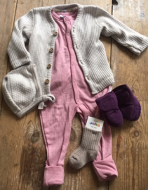 Joha jumpsuit wol, roze 60-100