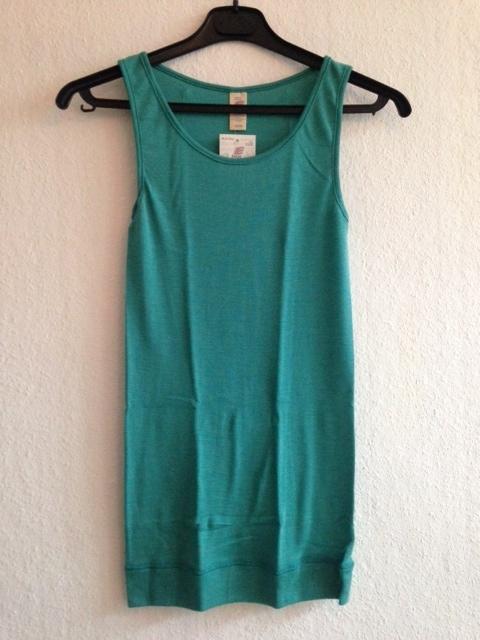 Wol/zijden hemd (lang), ijsblauw, Engel