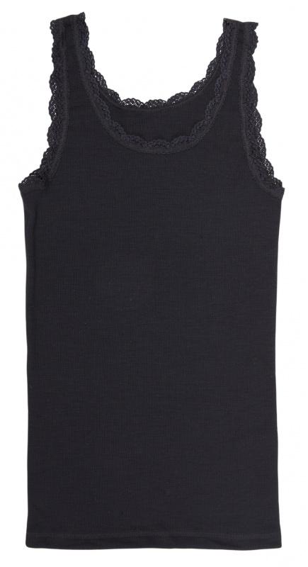 Joha dames hemd wol, zwart