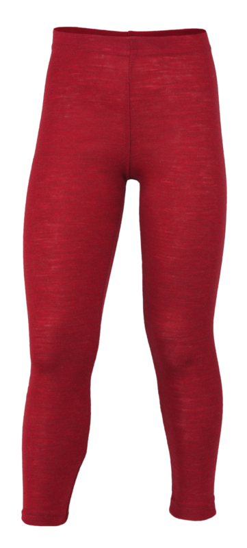 Engel-Natur merino wollen kinder legging, rood