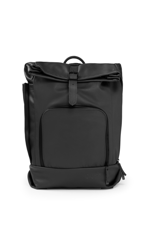dusq family bag | leather-night black