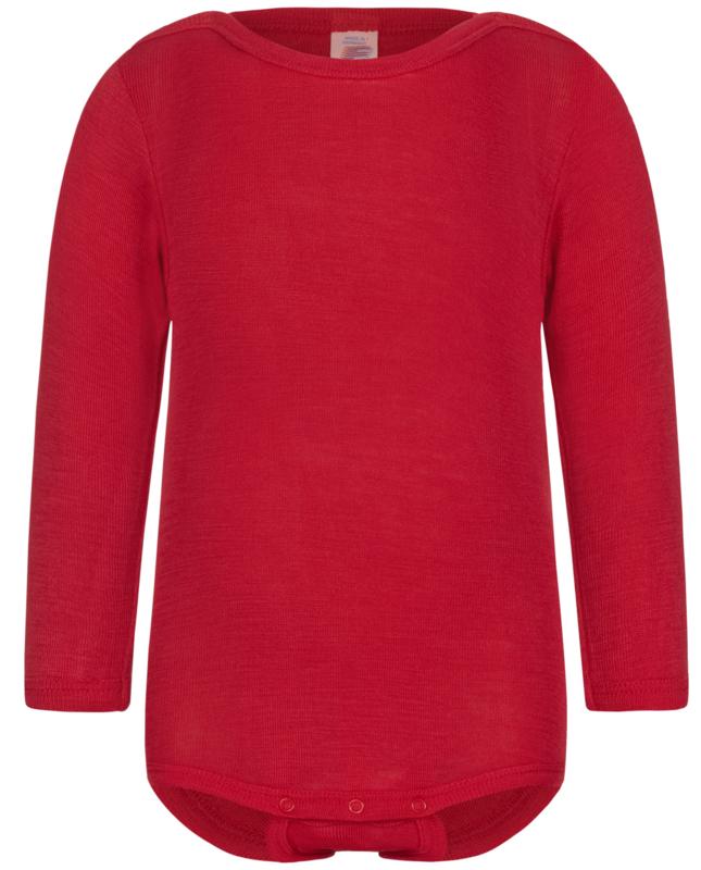 Engel-Natur wol/zijden romper, rood