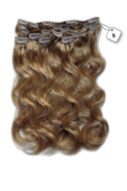 Clip in Extensions (Body Wave) kleur #8