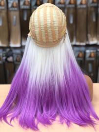 Synthetische Wig Funky White Purple - Eva