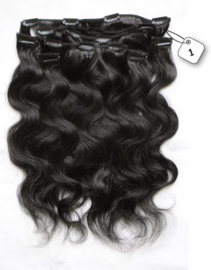 Clip in Extensions (Body Wave) kleur #1