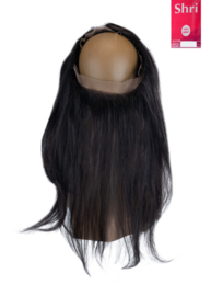 Indian (Shri) Human Hair 360º Frontal zonder Cap (Steil)