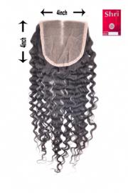 Indian (Shri) Human Hair Closure (Jerry Curl)