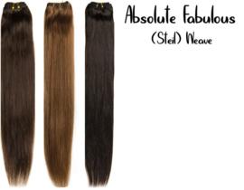 Straight,  100% Human Hair, Absolute Fabulous Weave (Gekleurd)