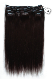 Clip in Extensions (Steil) 45cm  (Extra Volume), kleur #1B