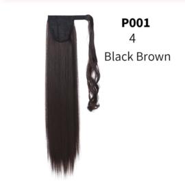 "Wrap Around Ponytail - Premium Synthetic Fiber 22"" Straight (#4)  Black Brown"