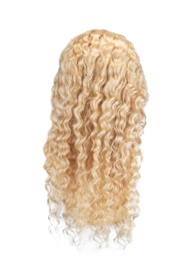 Indian (Shri) Human Hair (BLOND #613) Front Lace Wig (Deep Wave)