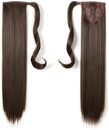 "Wrap Around Ponytail - Premium Synthetic Fiber 22"" Straight (#8 ) Chestnut Brown)"