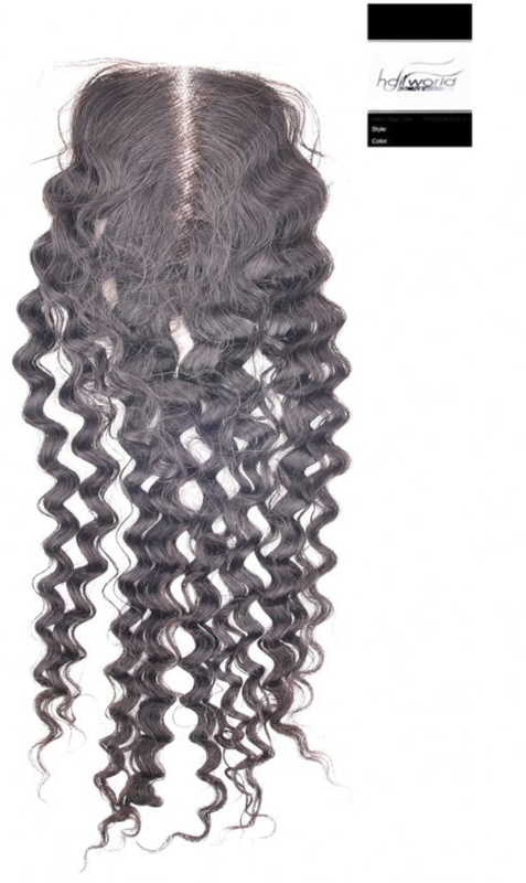 100% Virgin Hair Closure (Jerry Curl)