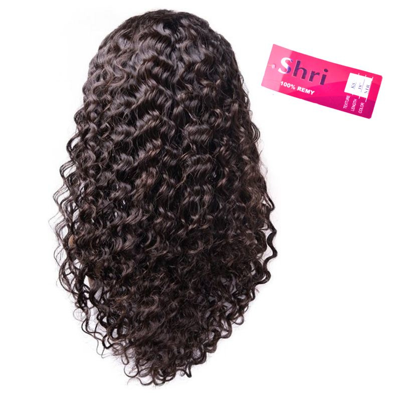 Indian (Shri) Human Hair Front Lace Wig (Deep Wave)