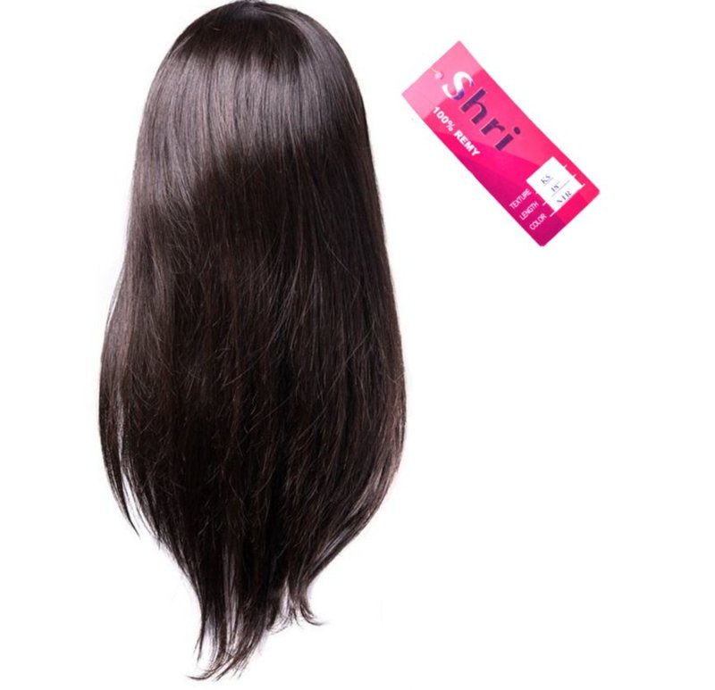 Indian (Shri) Human Hair Front Lace Wig (Steil)