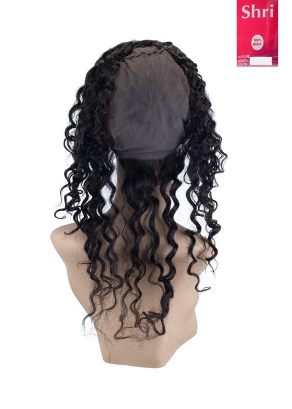 Indian (Shri) Human Hair 360º Frontal met Cap (Deep Wave)