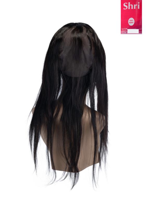 Indian (Shri) Human Hair 360º Frontal met Cap (Steil)