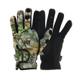 NGT Camo Neoprene Fishing Gloves