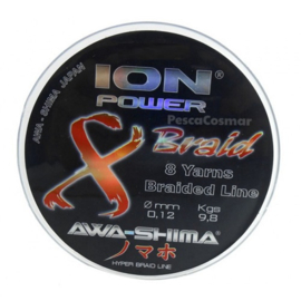 Awa-S 8 Braid 100% Dyneema 0.18 Ion Power