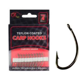 Z-Fish Hooks Teflon Coated Curved (Alle maten)
