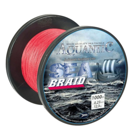 Aquantic Braid Red 0.23mm 1000mtr