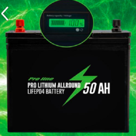 Pro Line Lithium Accu Pack 50 Amp LiFe PO4 Incl. Lader