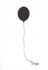 Ansichtkaart 'Let go'