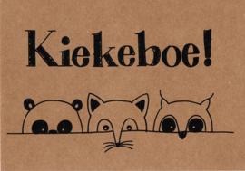 Ansichtkaart 'Kiekeboe!'
