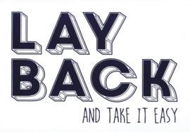 Ansichtkaart 'Lay back and take it easy'
