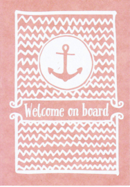 Ansichtkaart 'Welcome on board'