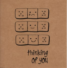 Wenskaart 'Thinking of you'