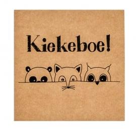 Wenskaart 'Kiekeboe'