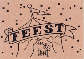 Ansichtkaart 'Feest in de tent'