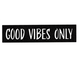 Wenskaart 'Good vibes only'
