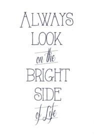 Ansichtkaart 'Always look on the bright side of life'